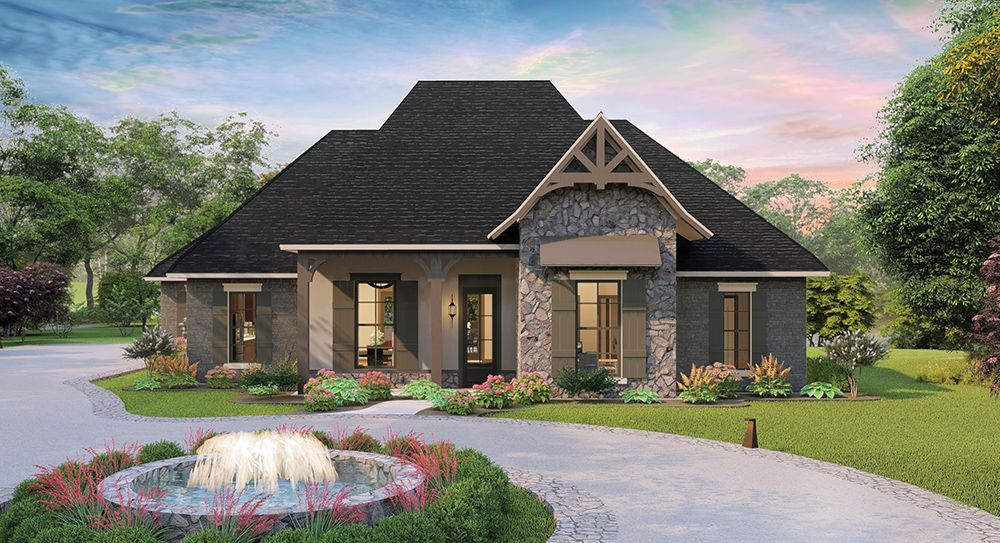 The Timberstone House Plan 1798 From Larry James Designs Beautiful Design Of A One Story 2298 Squ Country Style House Plans House Plans French Country House