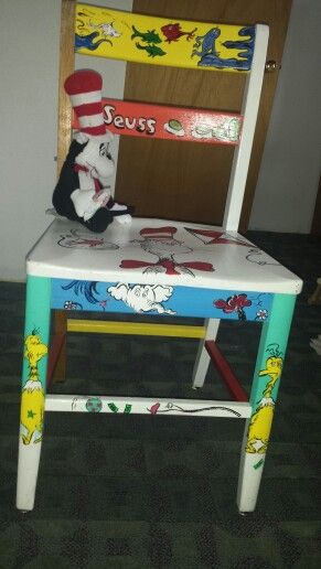 Dr Seuss Theme Painted Chair Just My Style Pinterest