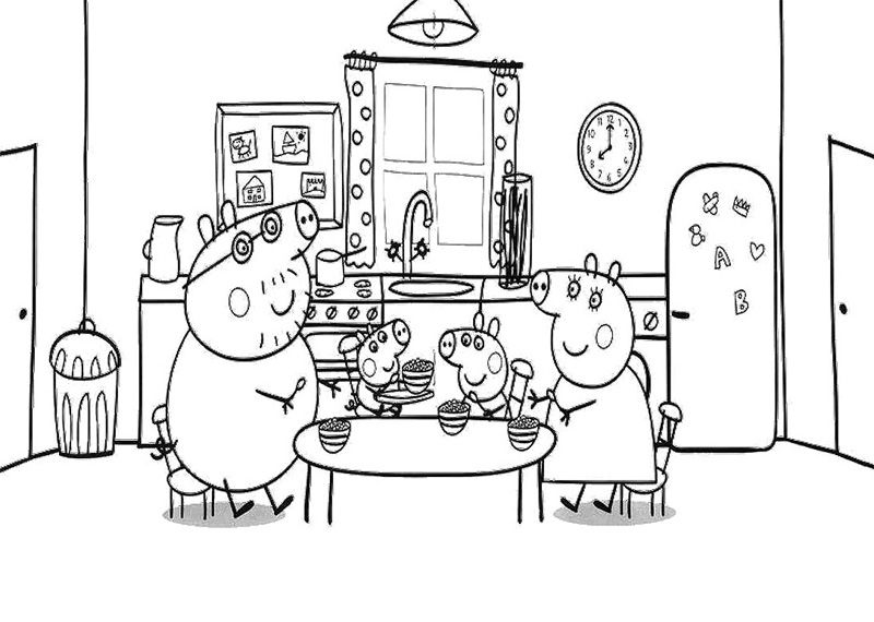 Peppa Pig Coloring Pages and Sheets httpfreecoloring pagesorg