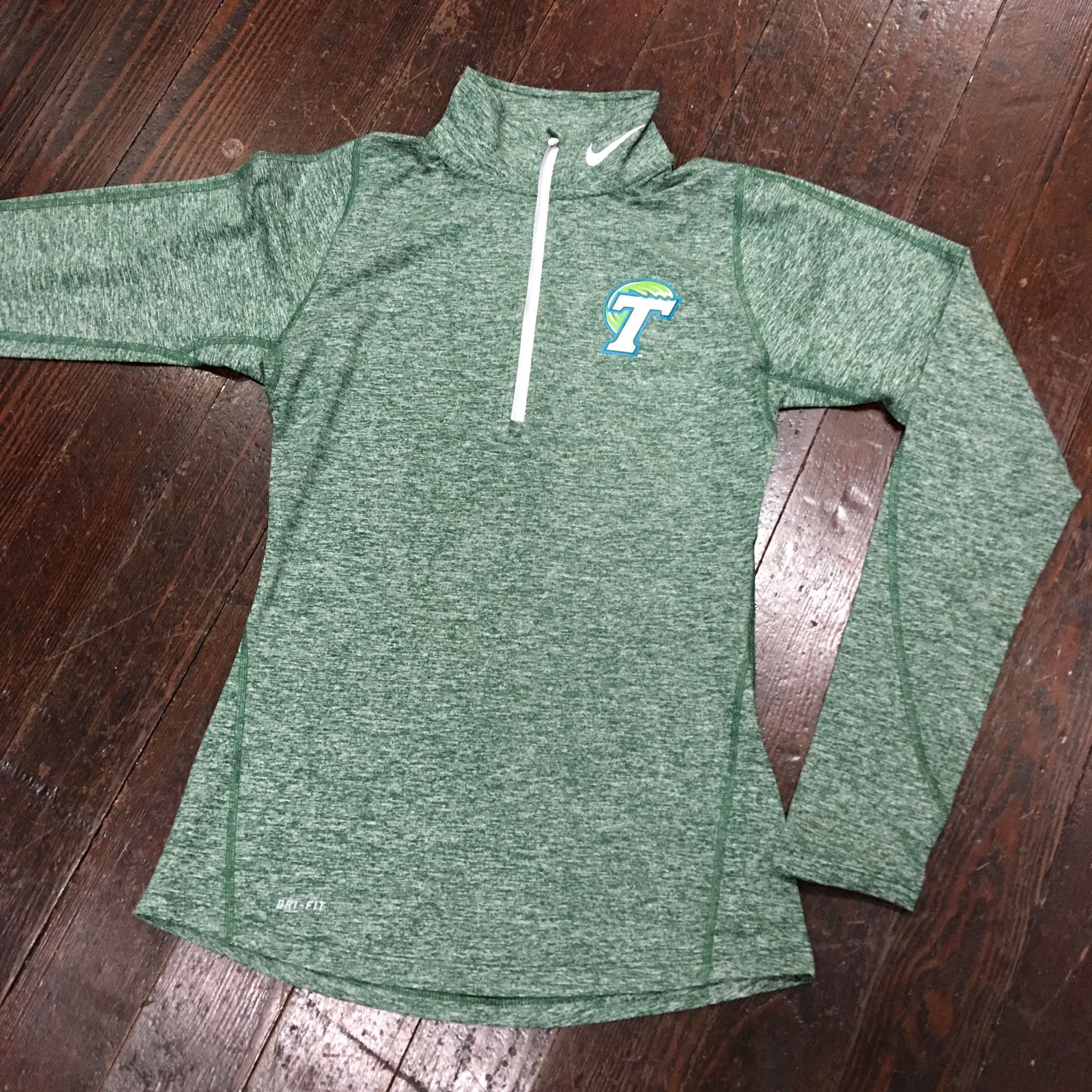 Home college tulane green wave tulane green wave silver plated - Tulane Angry Wave Nike Womens Quarter Zip Tailgate Element