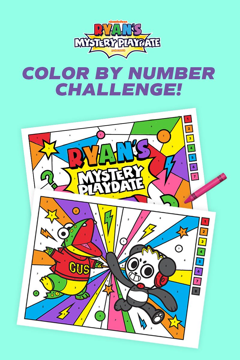 Ryan Challenges You To Color By Number Color By Number Printable Panda Coloring Pages Coloring For Kids