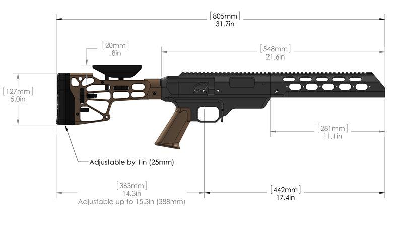 TAC21 Dimensions | Remington 700 Mods | Rifle accessories, Bolt