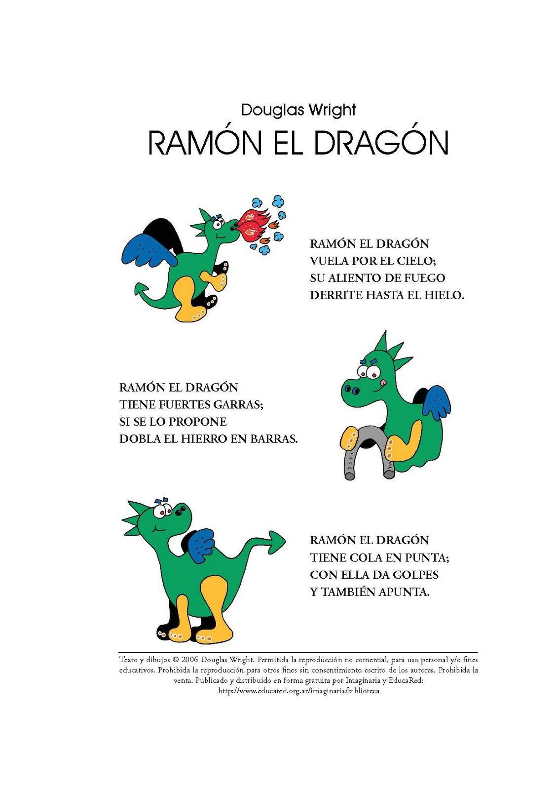 Con esta canción, además de trabajar el proyecto de los Dragones, también  vamos a estimular y corregir determinados problemas del lenguaj.