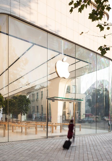 First Apple Store under Jonathan Ive unveiled in Brussels. Store Interior  DesignArchitecture ...