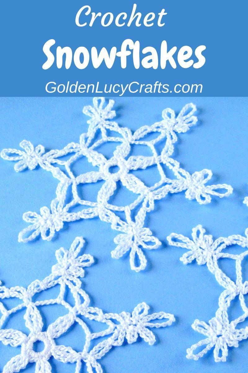 Crochet Snowflake Free Pattern Christmas Crochet Patterns Crochet Snowflakes Holiday Crochet