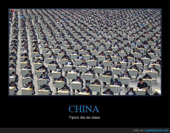 Un día cualquiera en China - Típico día de clase   Gracias a http://www.cuantarazon.com/   Si quieres leer la noticia completa visita: http://www.estoy-aburrido.com/un-dia-cualquiera-en-china-tipico-dia-de-clase/
