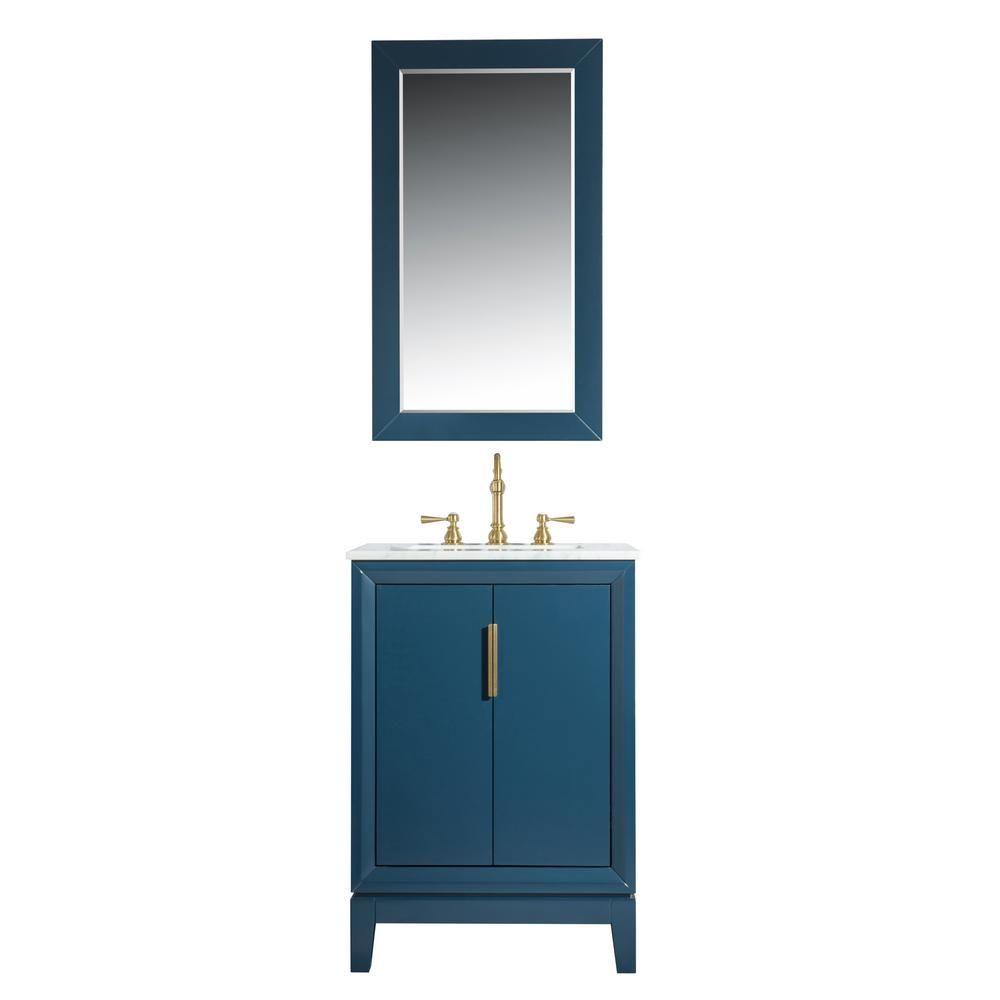 Water Creation 24 In Single Sink Bath Vanity In Carrara White