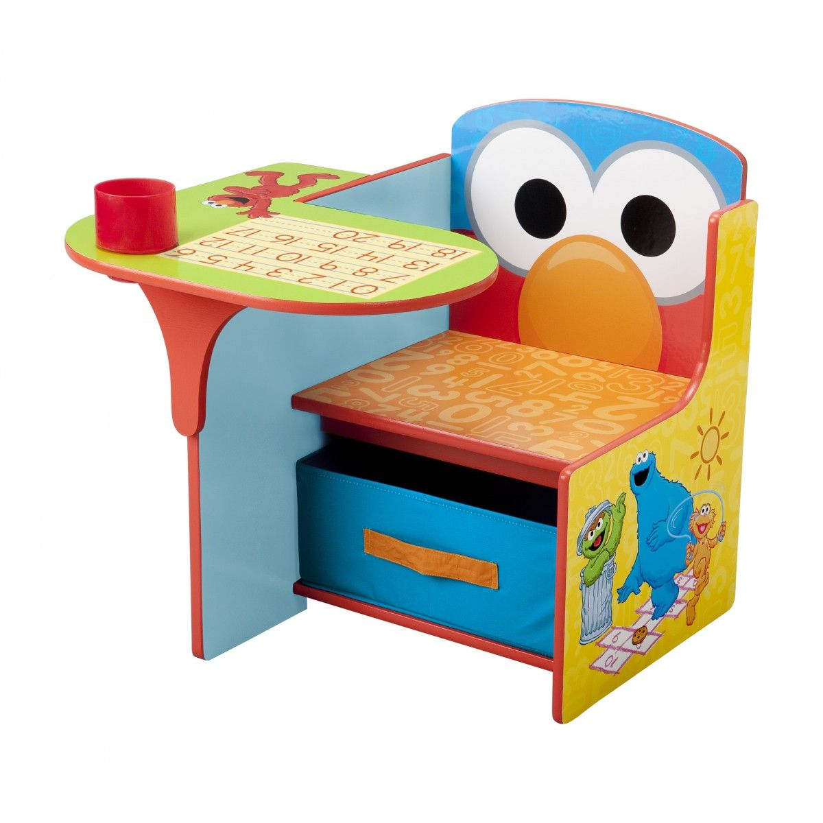 Elmo And Sesame Street Friends Desk Chair With Storage