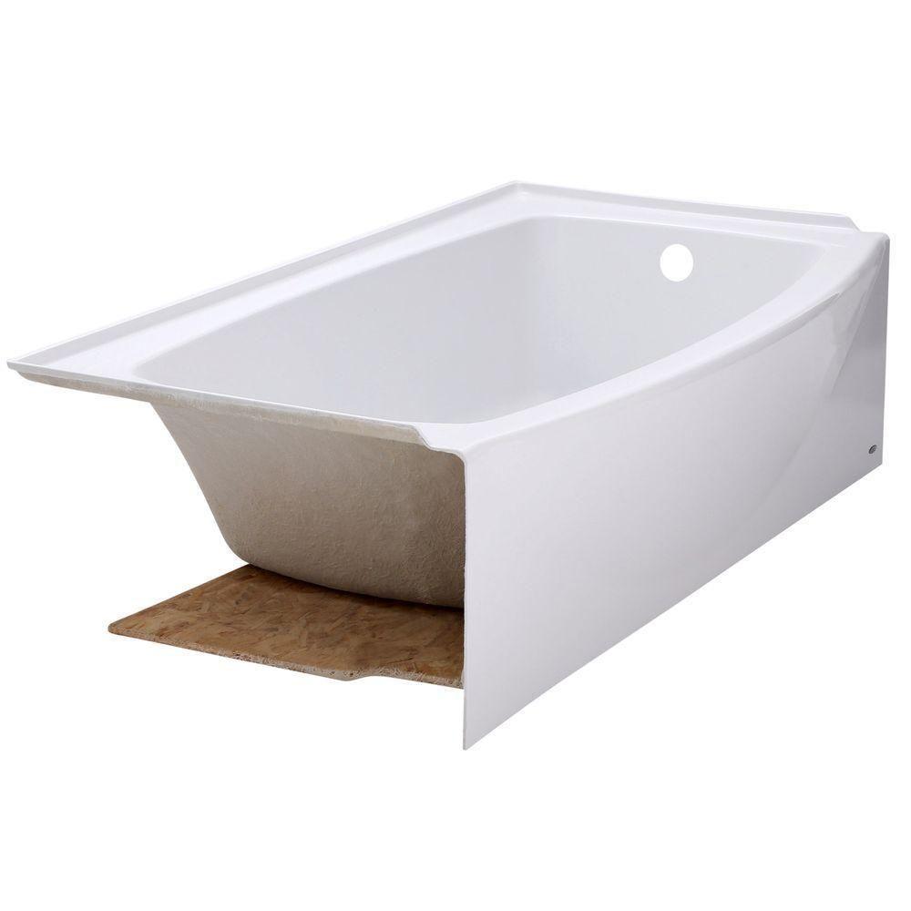 American Standard Ovation 5 ft. Left Hand Drain Bathtub in Arctic ...