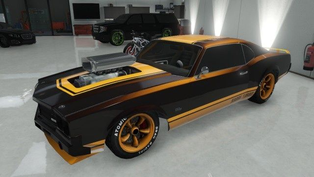 Orange Sabre Turbo with Supecharger | GTA 5 Muscle Cars