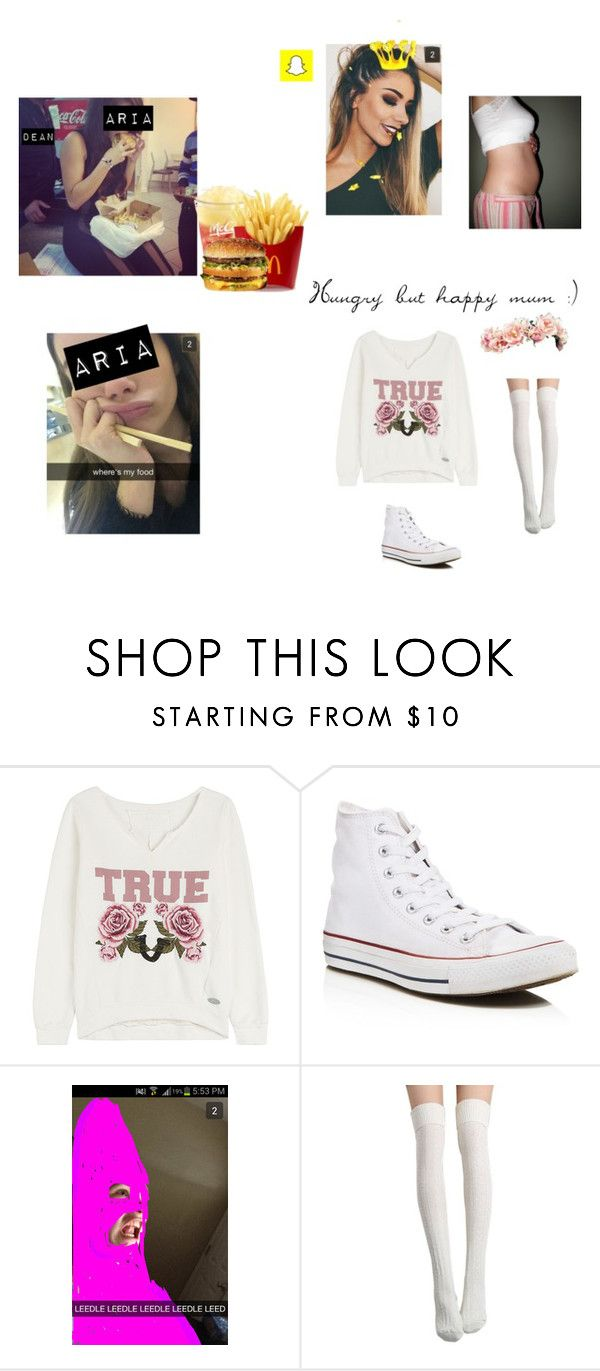 """"""":)"""" by dean-ambroses-babe ❤ liked on Polyvore featuring True Religion and Converse"""