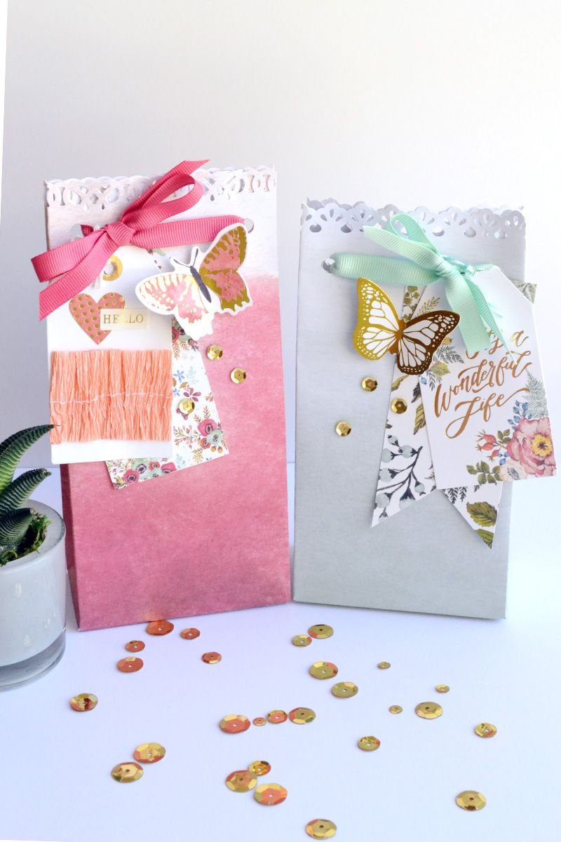 Wedding Gift Bags | Craft punches, Gift and Stampin up