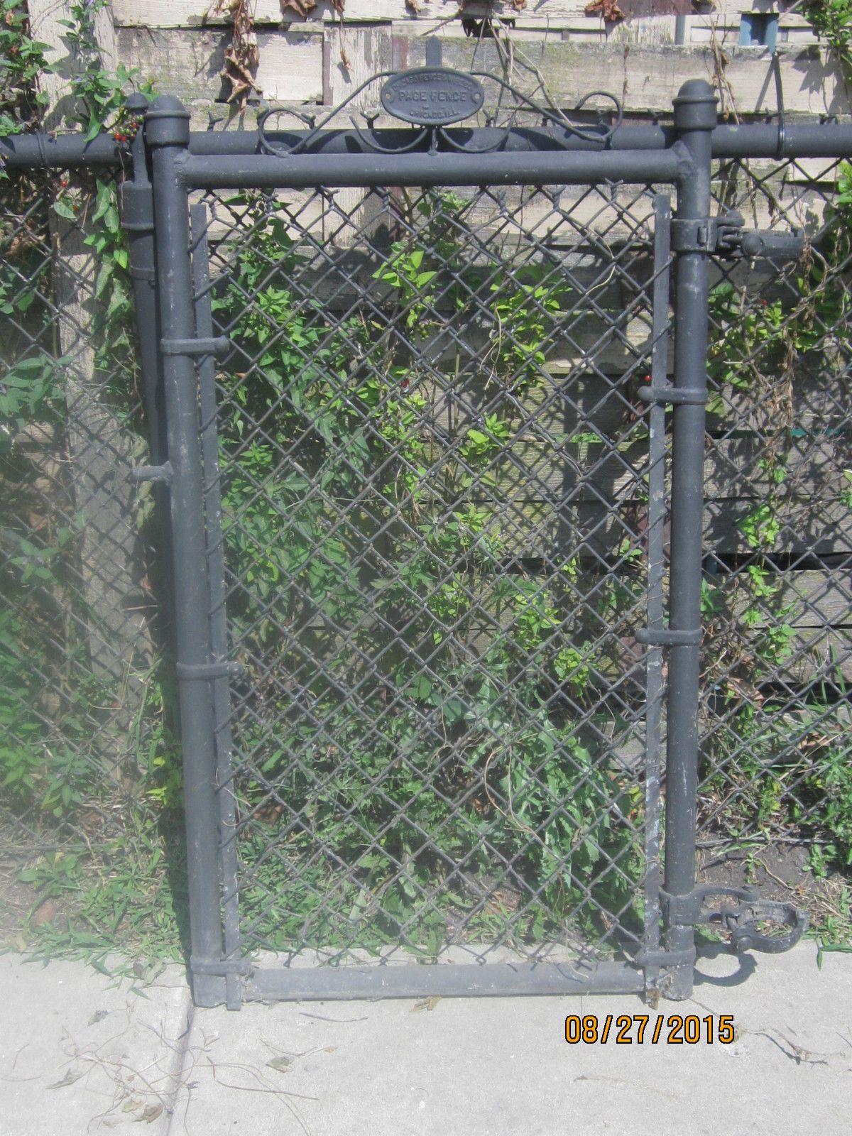 Vintage Metal Wire Ornate Garden Gate Door Chicago Fence Co