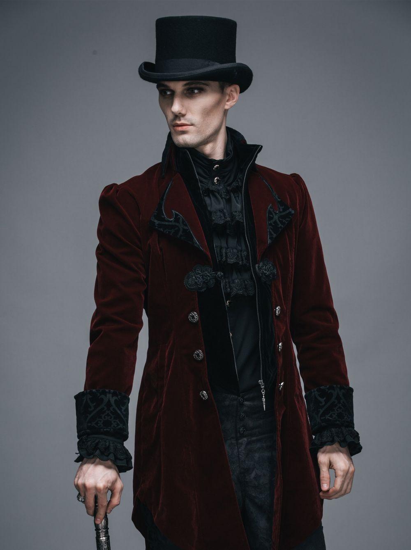 veste gothique queue de pie bordeaux pour homme devil. Black Bedroom Furniture Sets. Home Design Ideas