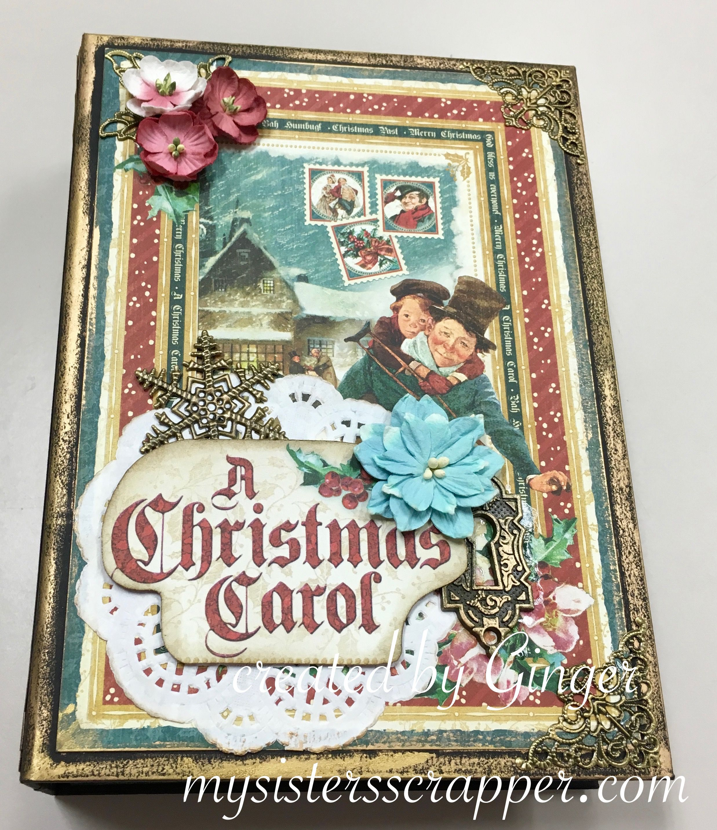 BBS Christmas Carol Mini Album Front Cover