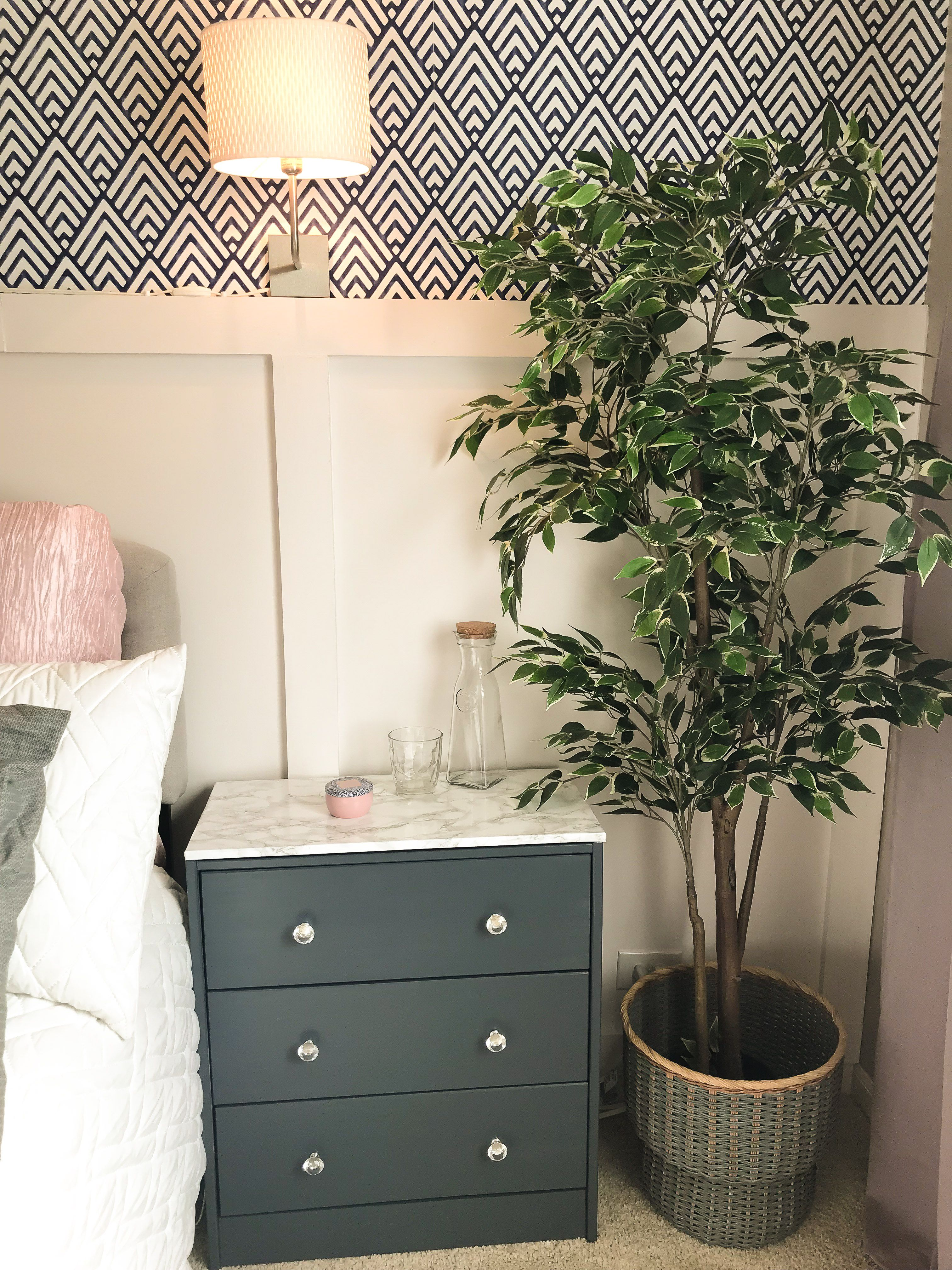 Img 3961 1 Rosewood And Grace Guest Room Office Dresser As Nightstand Interior Design Inspiration