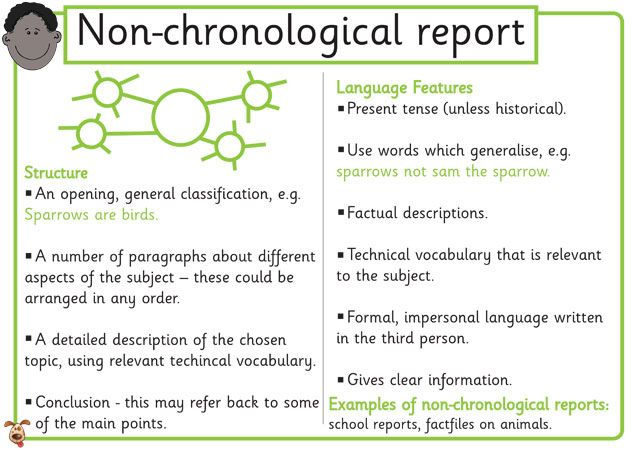 Image result for features of non-chronological reports