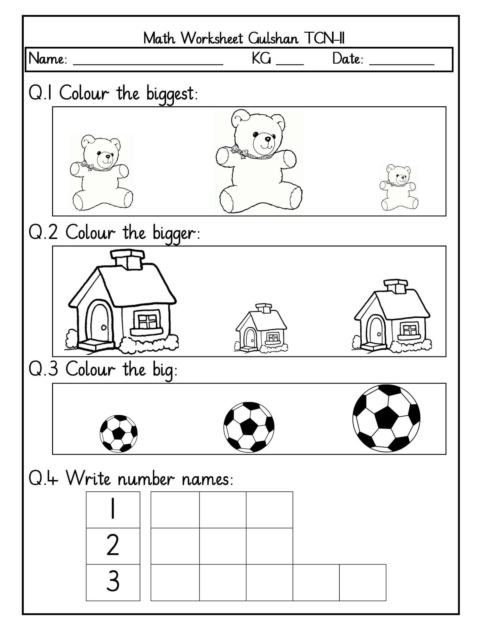 Nursery Worksheets In