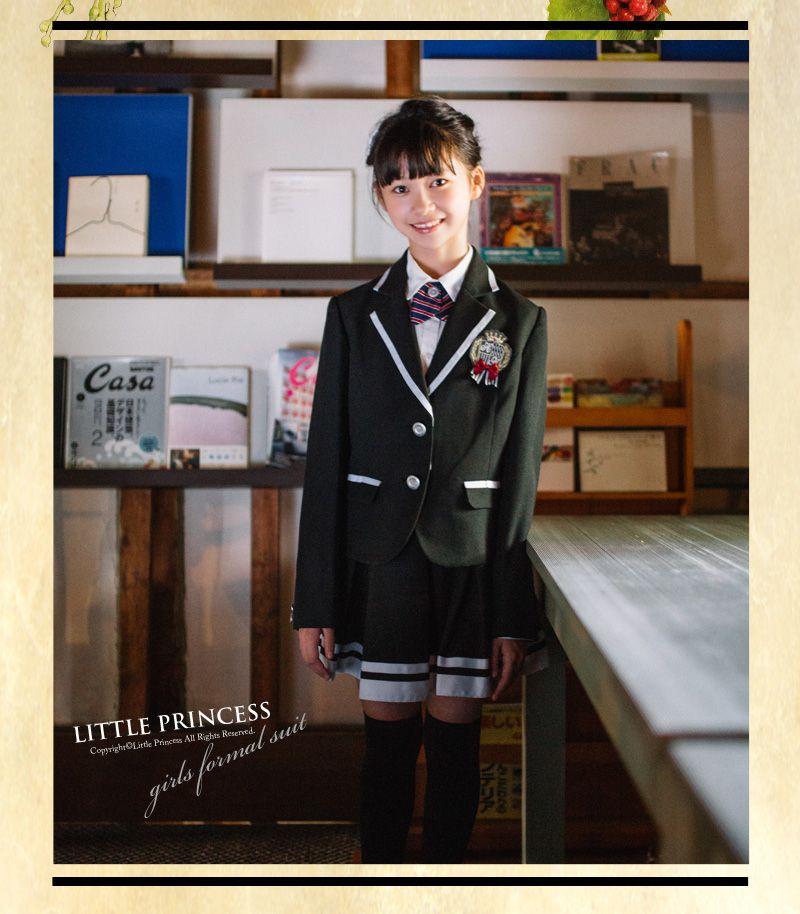8b9bbc3b8f830  楽天市場 卒業式 スーツ 女の子 小学生 子供服 Hiromichi Nakano 363206053 ブラック ネイビー