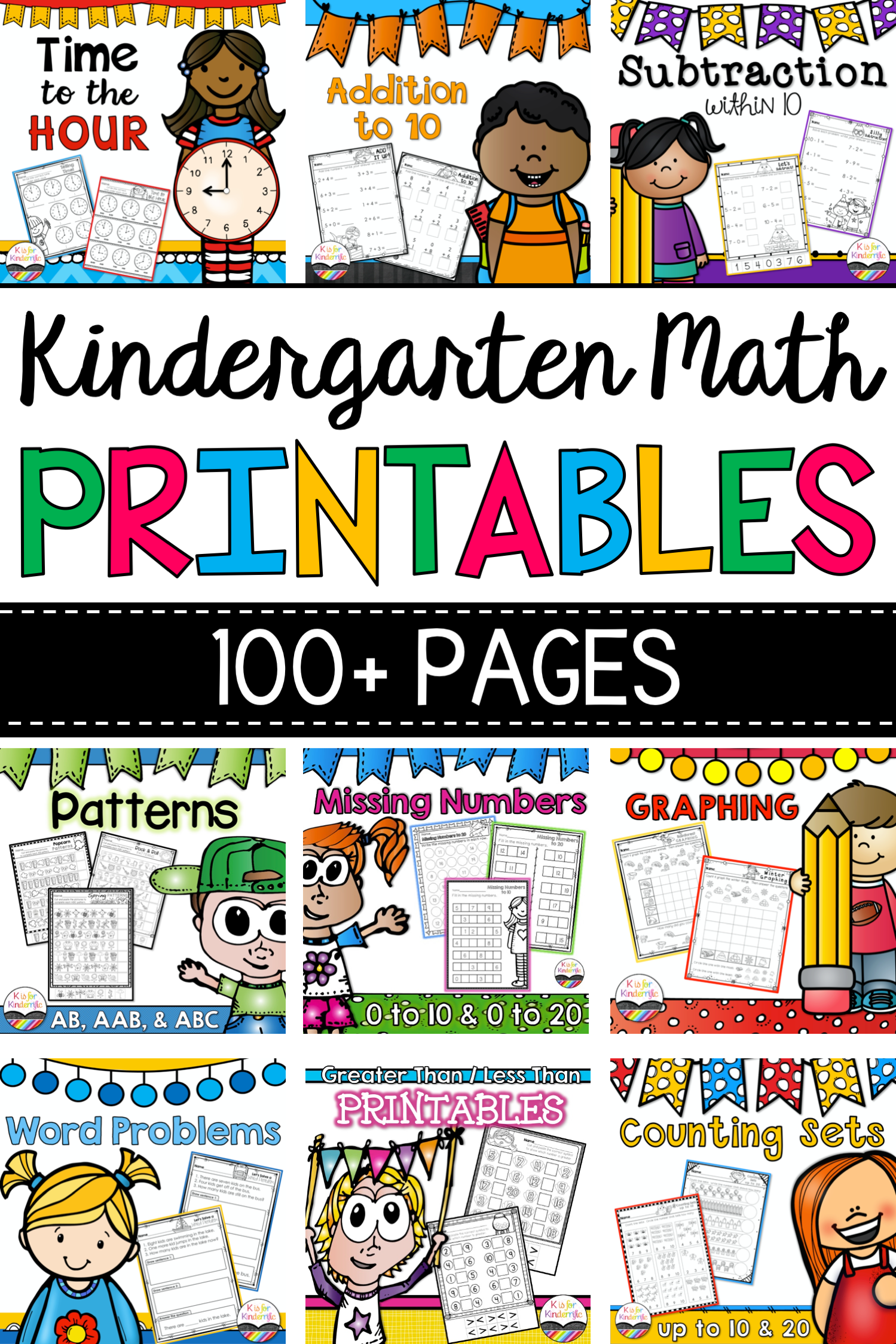 Kindergarten Math Worksheets Printables In