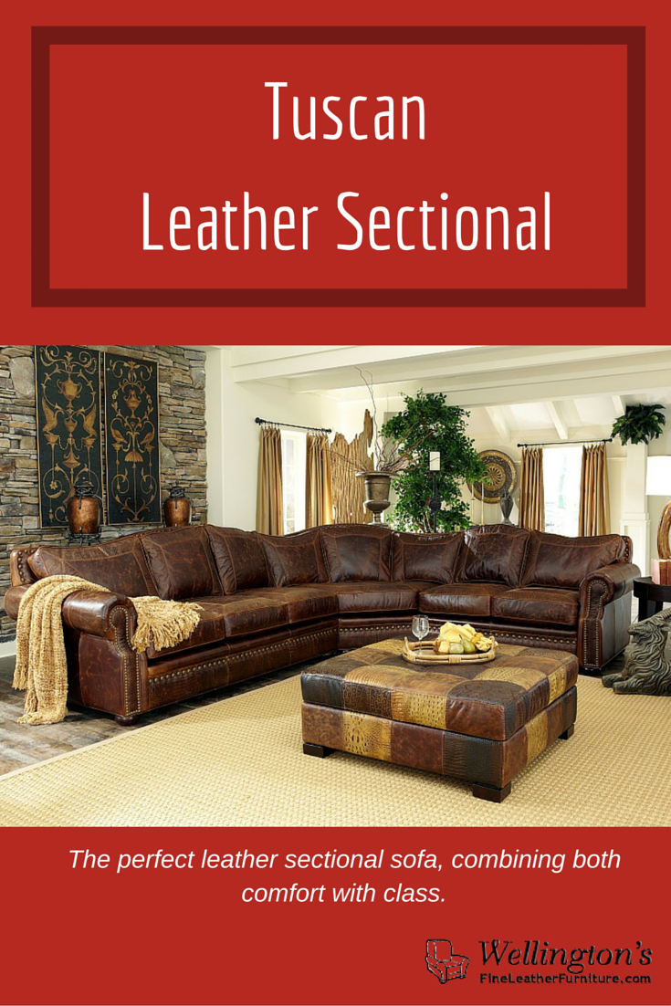 Learn More Now: Http://fineleatherfurniture.com/leather Furniture/sectional  Sofas/tucson Leather Sectional Detail | Accent Pillow And Throw Pillows ...