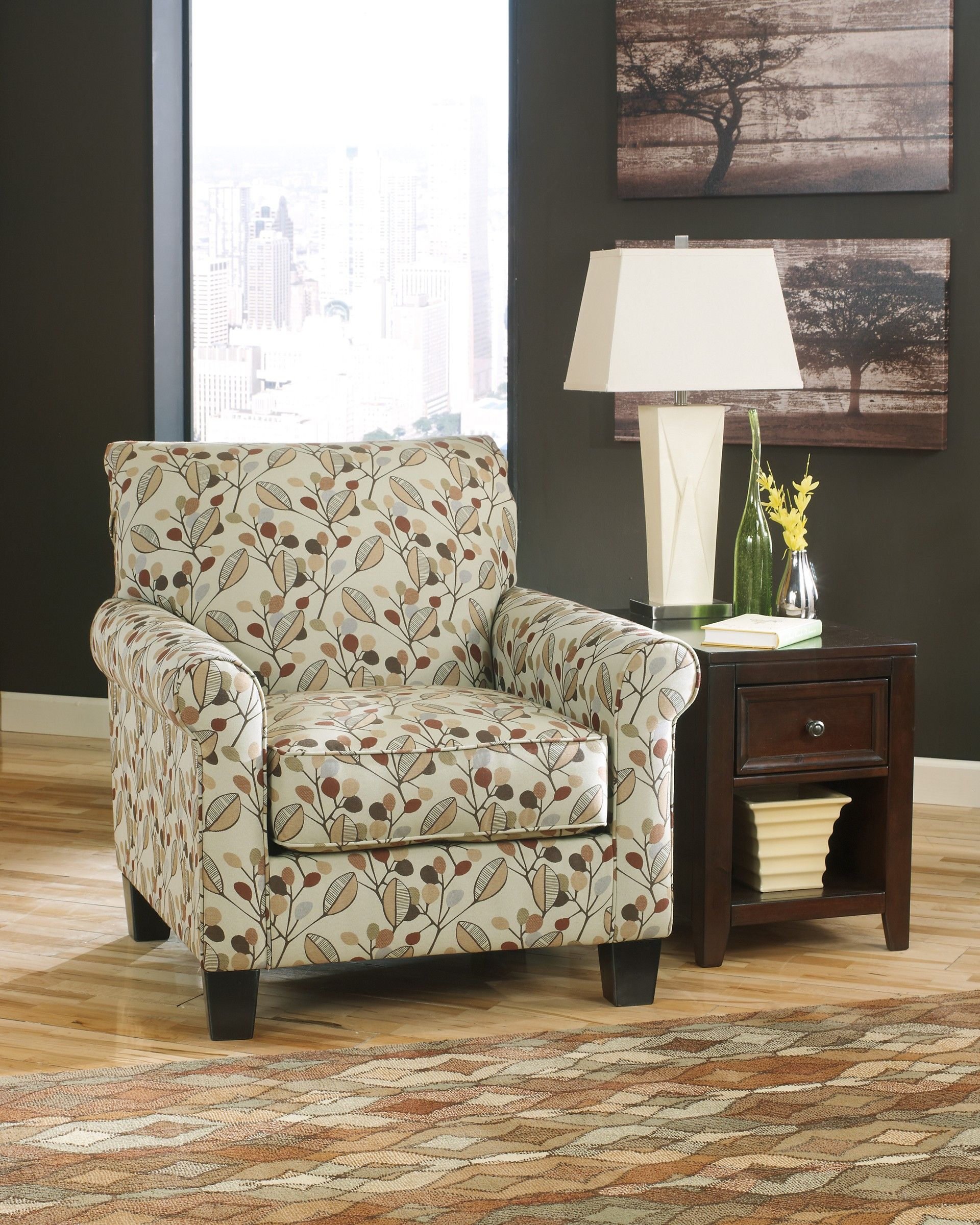 Gusti Dusk Living Room Set Signature Design: Ashley Danely 3550021 Benchcraft Accent Chair