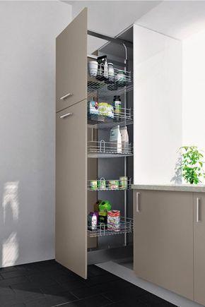 Rangement Coulissant Amorti Pour Colonne H 200 Cm Rangement Rangement Cuisine Meuble Garde Manger