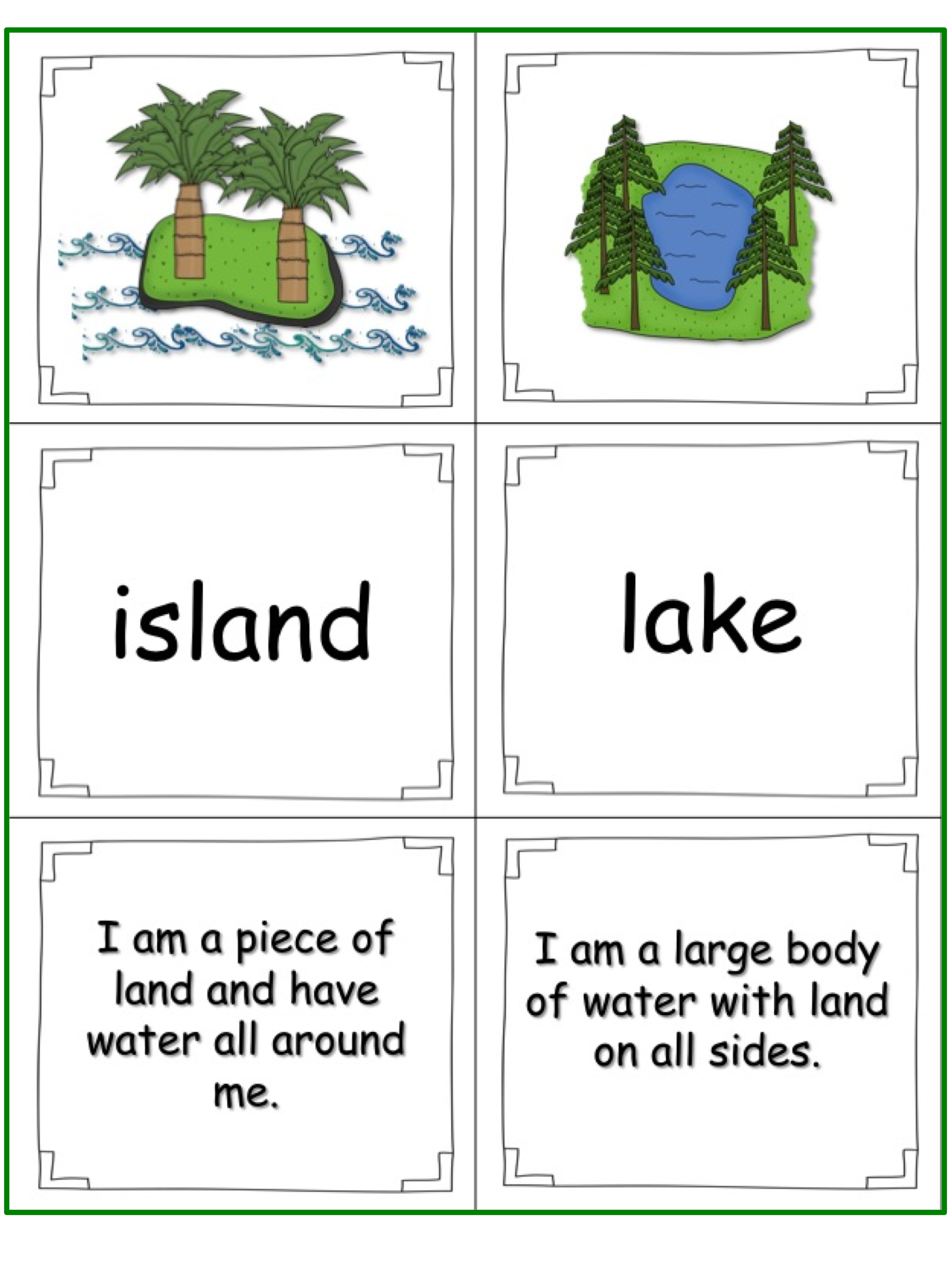 hight resolution of This is a great set to teach landforms to your students. The little book is  in a riddle …   Social studies elementary