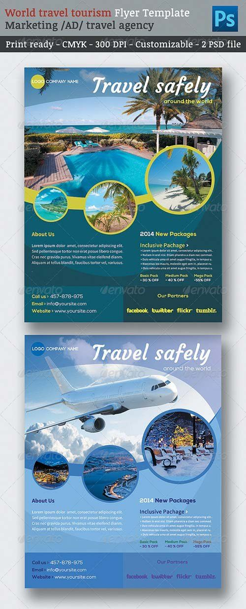 Graphicriver World Travel Tourism Marketing Flyer Template