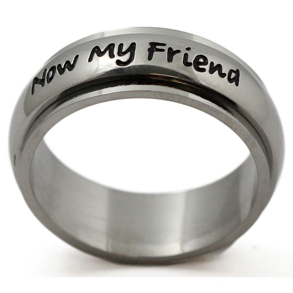 Women's Stainless Steel 'Always My Daughter, Now Too My Friend' Ring (Size 10) (velvet, check)