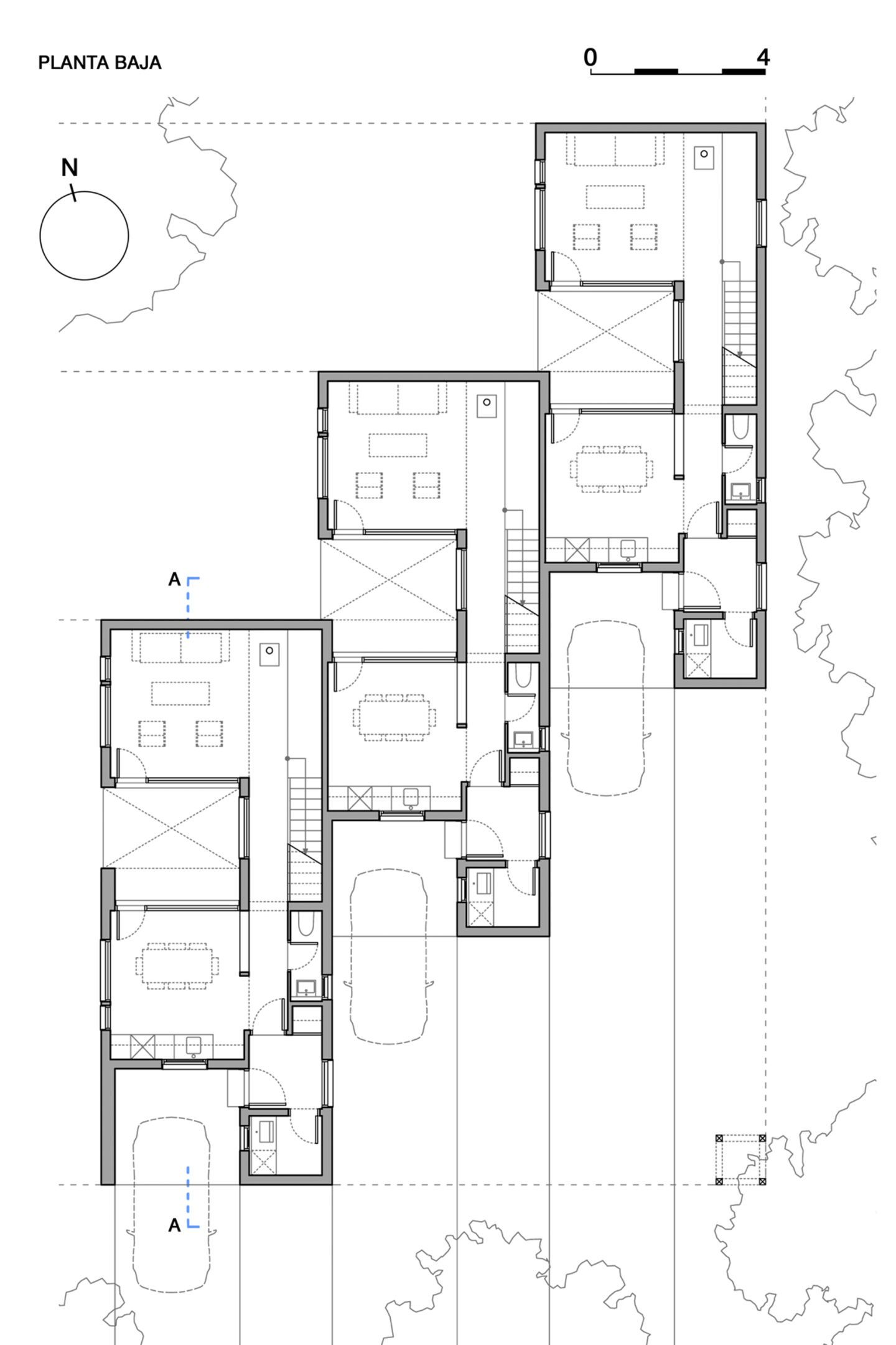 The project is located on a plot along a low density for New urbanism house plans