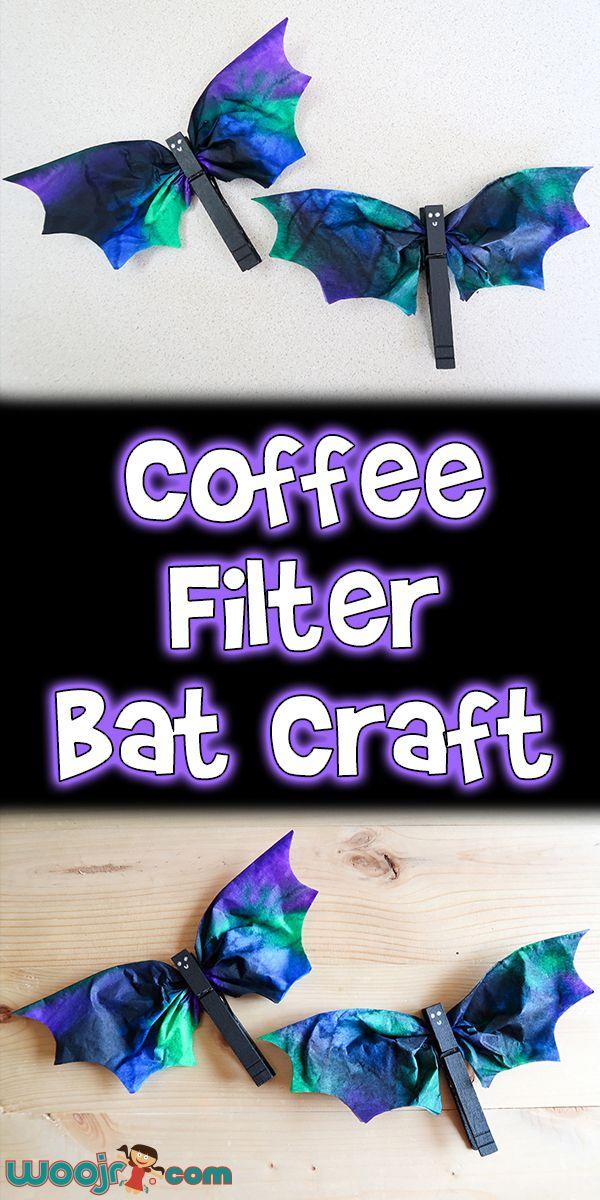 Coffee Filter Bat Craft