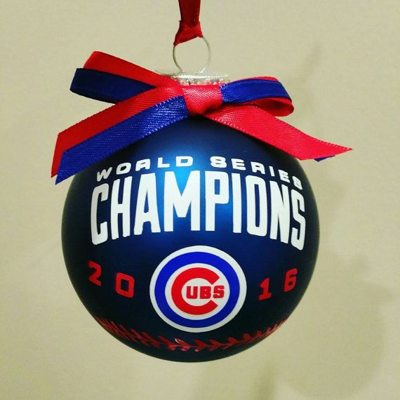 Chicago Cubs 2016 World Series Christmas tree ornament on a 3-inch ...