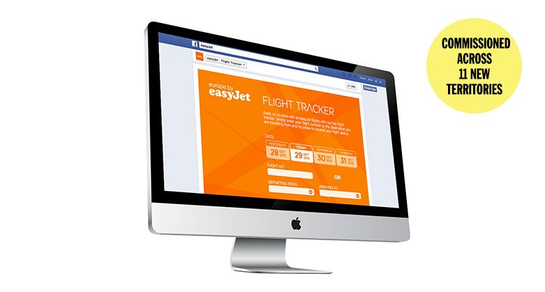Easyjet Flight Tracker Facebook App #design #build #socialmedia