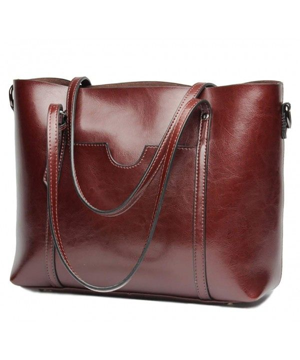 Women s Bags, Shoulder Bags, Women s Handbag Genuine Leather Tote Shoulder  Bags Large - Wine Red - CT17X6D54EY  Women  Bags  Fashion  Handbags   shopping ... 68fb5fe0dc