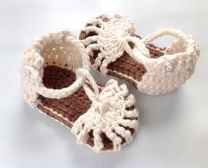 crochet sandals.