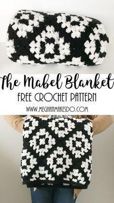 crochet pattern free blanket pattern crochet blanket pattern black and white blanket - Hakelmutzen Muster