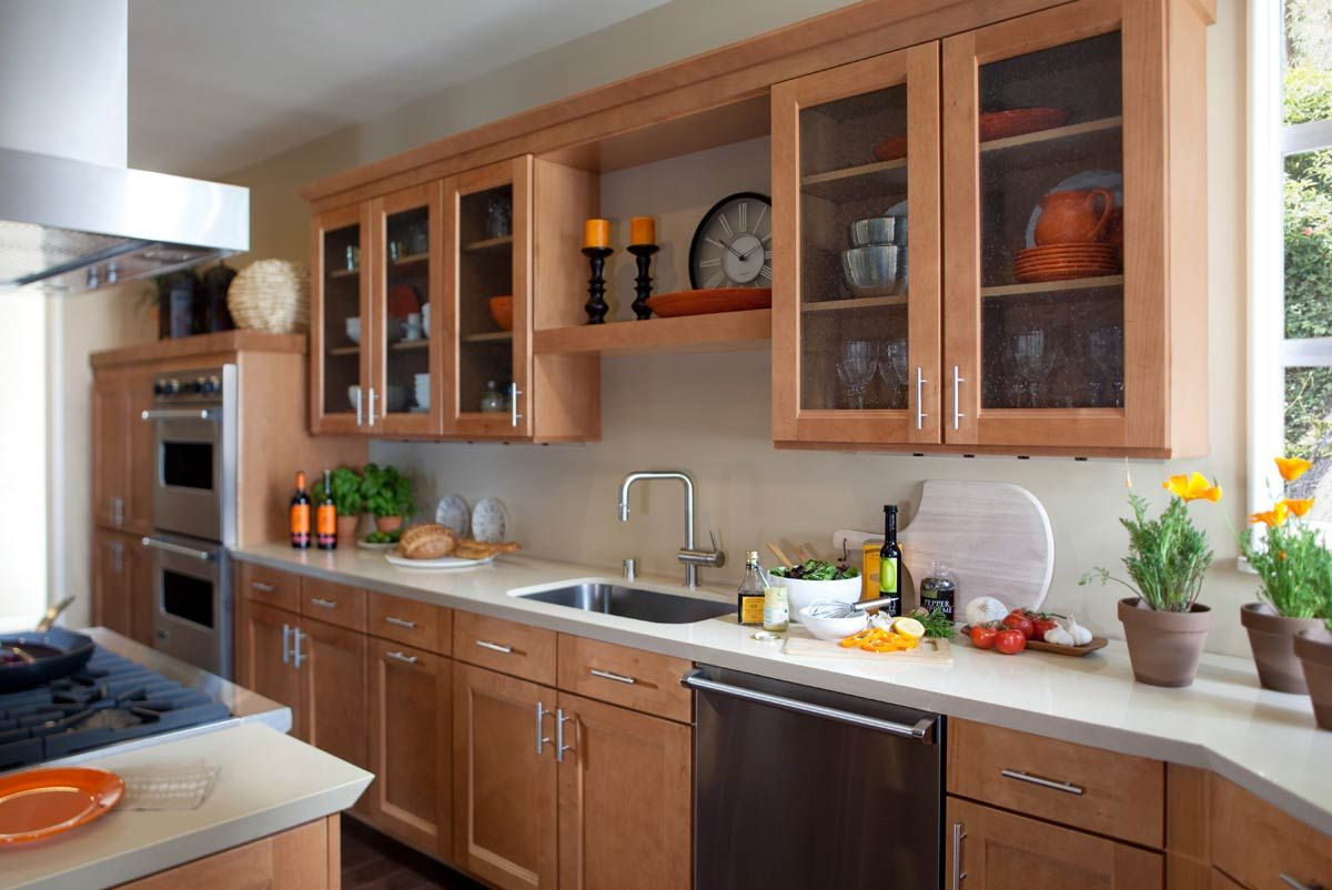 Waypoint Kitchen Cabinets Exhaust Fan Living Spaces Style 420t In Maple Spice Ideas To