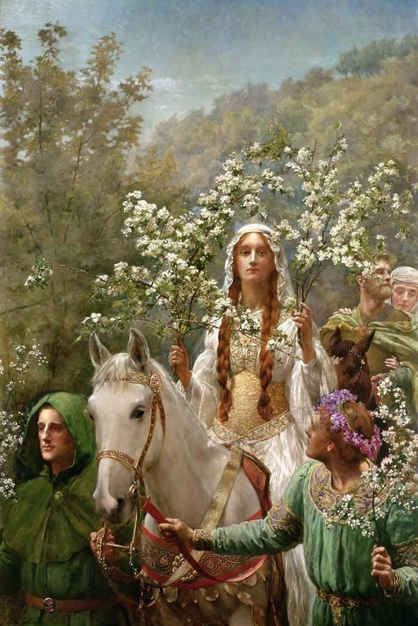 Ginevra as a May Queen, John Maler Collier