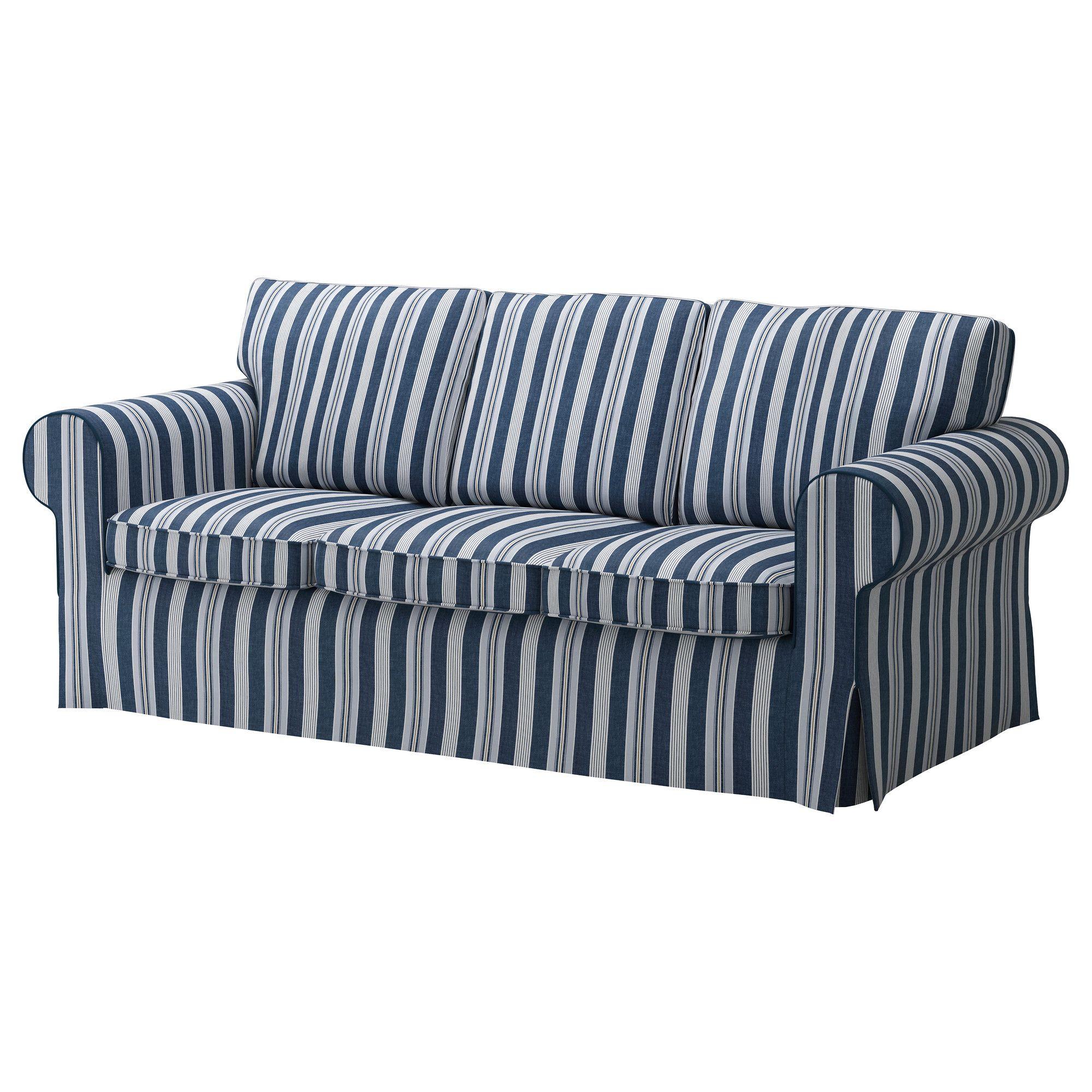 EKTORP PIXBO Husă canapea extensibilă 3 locuri …byn albastru