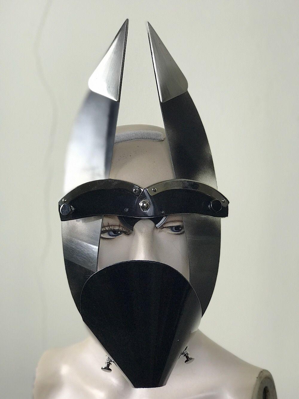 2d9e676901ce Black mask with triangular horns muzzle styling video, costume   Hi Tek  Webstore