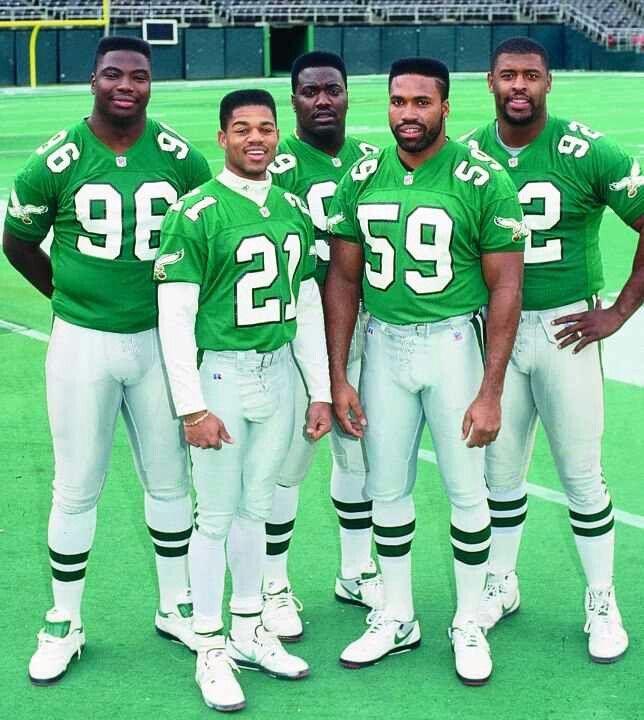 0e74017a99a Clyde Simmons, Eric Allen, Jerome Brown, Seth Joyner & Reggie White ...