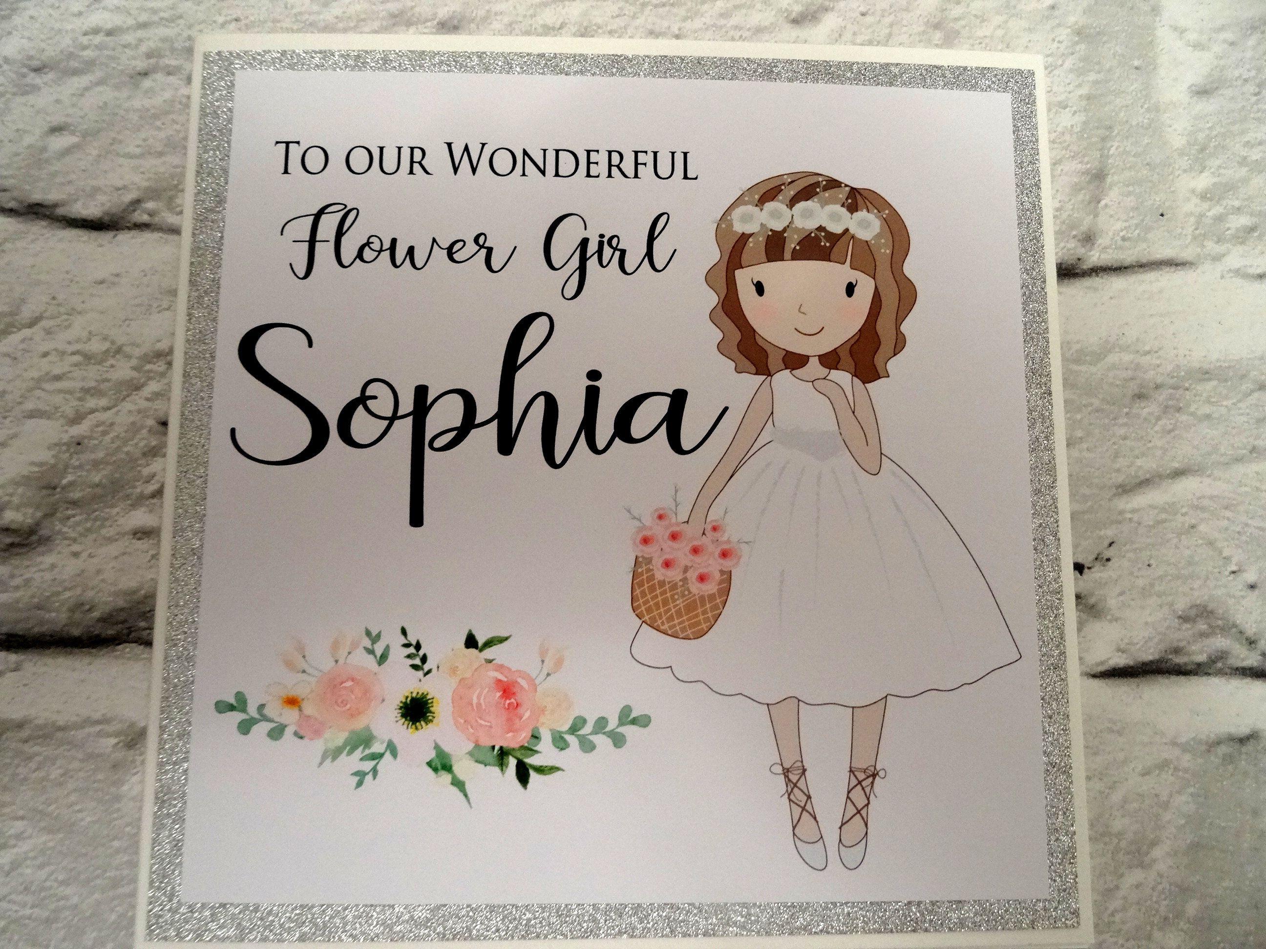 to our wonderful flower girl custom card personalised