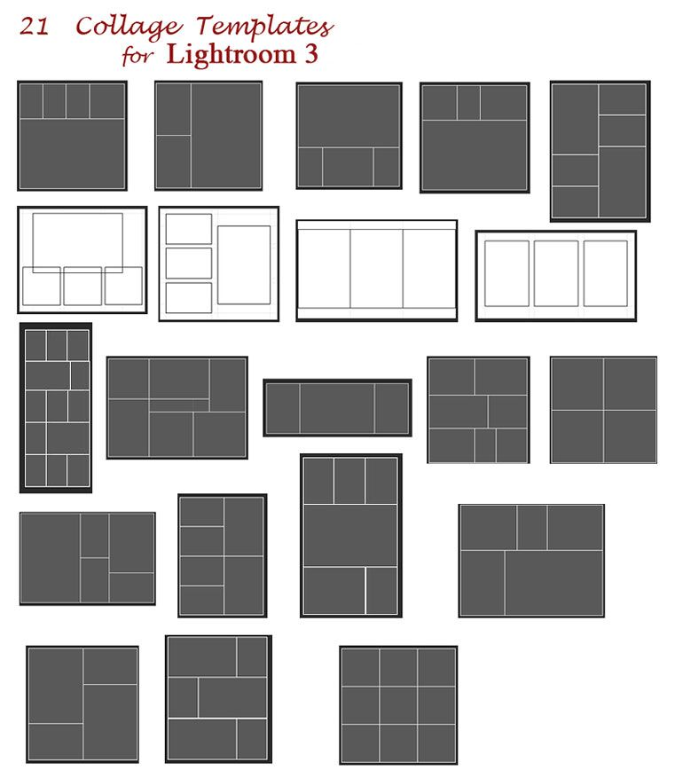 Photoshop Layout Templates: Collage Templates For Lightroom 3 - Free Download
