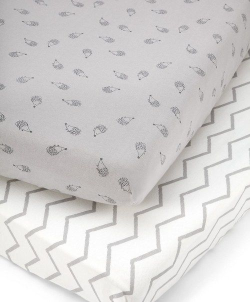 Cotbed Fitted Sheets (pack of 2) - Grey £29