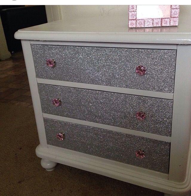 Glitter nightstand | Home ideas | Pinterest | Muebles recuperados ...