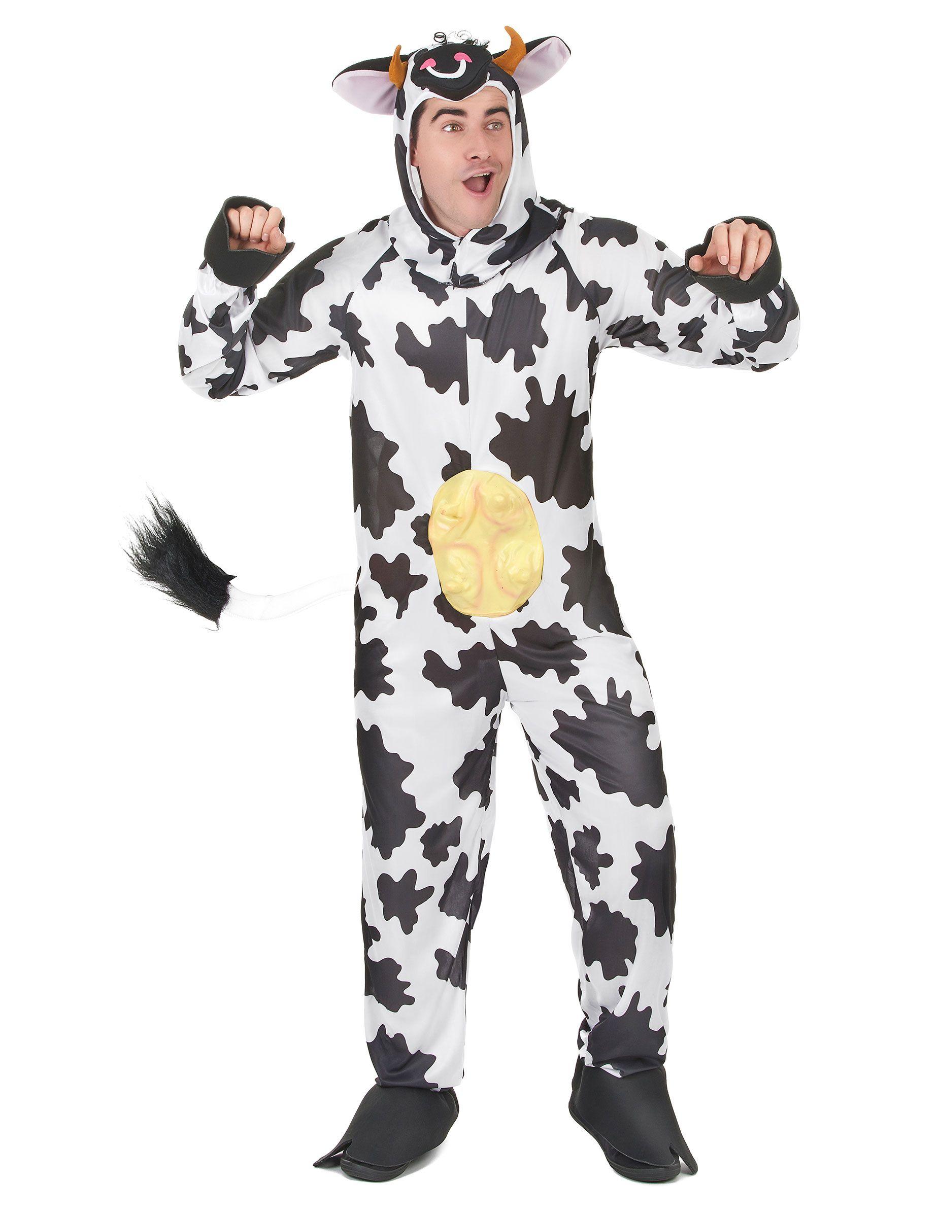 Cow Hat Black White Farm Animal Fancy Dress Up Halloween Adult Costume Accessory