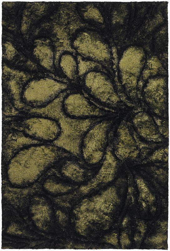 Chandra Flemish Fle51112 50 x 76 Olive Area Rug