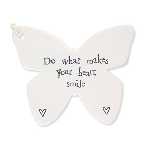 Butterfly Hanging Poreclain  Do what makes your heart Decoration Gift