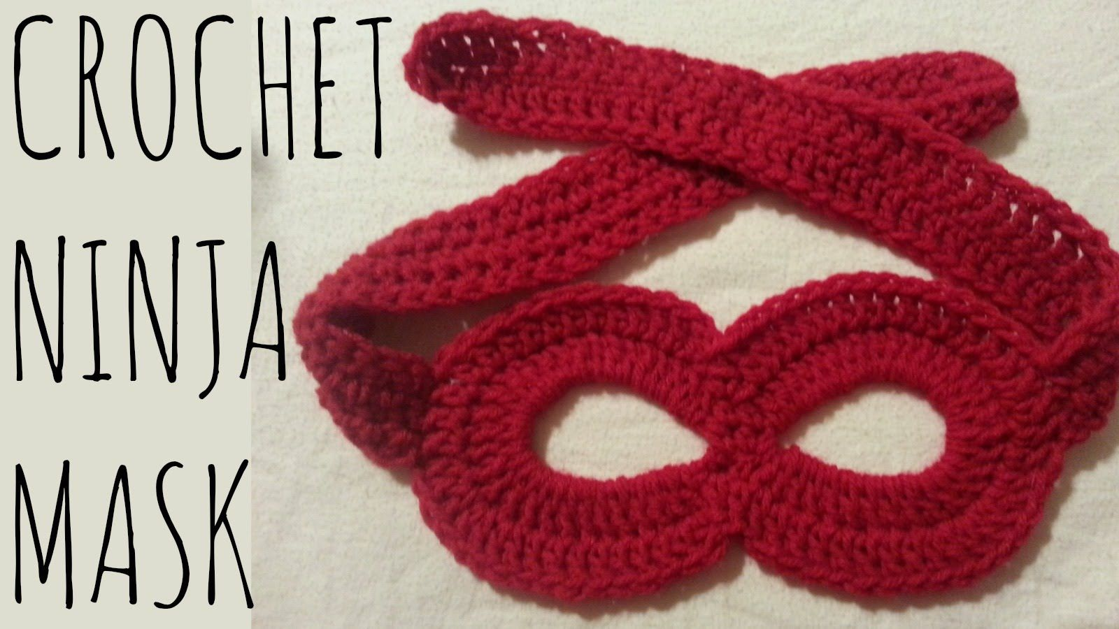 How to crochet a superhero or ninja mask! Perfect for Halloween or ...